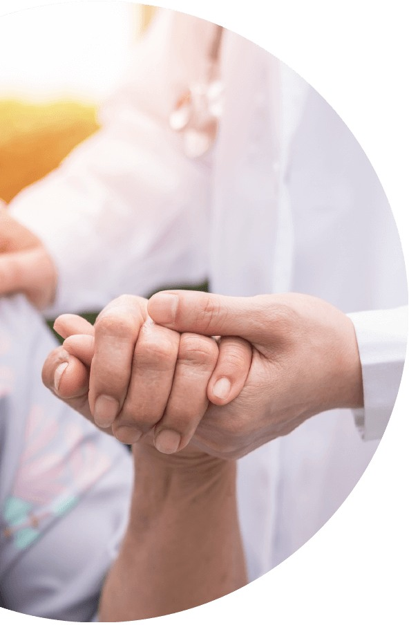 Cytecare Cancer Treatment, Doctor Holding Patients Hand