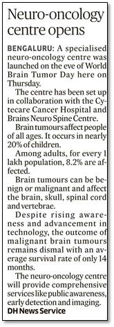Cytecare, Brains Hospital opens Neuro - Oncology centre