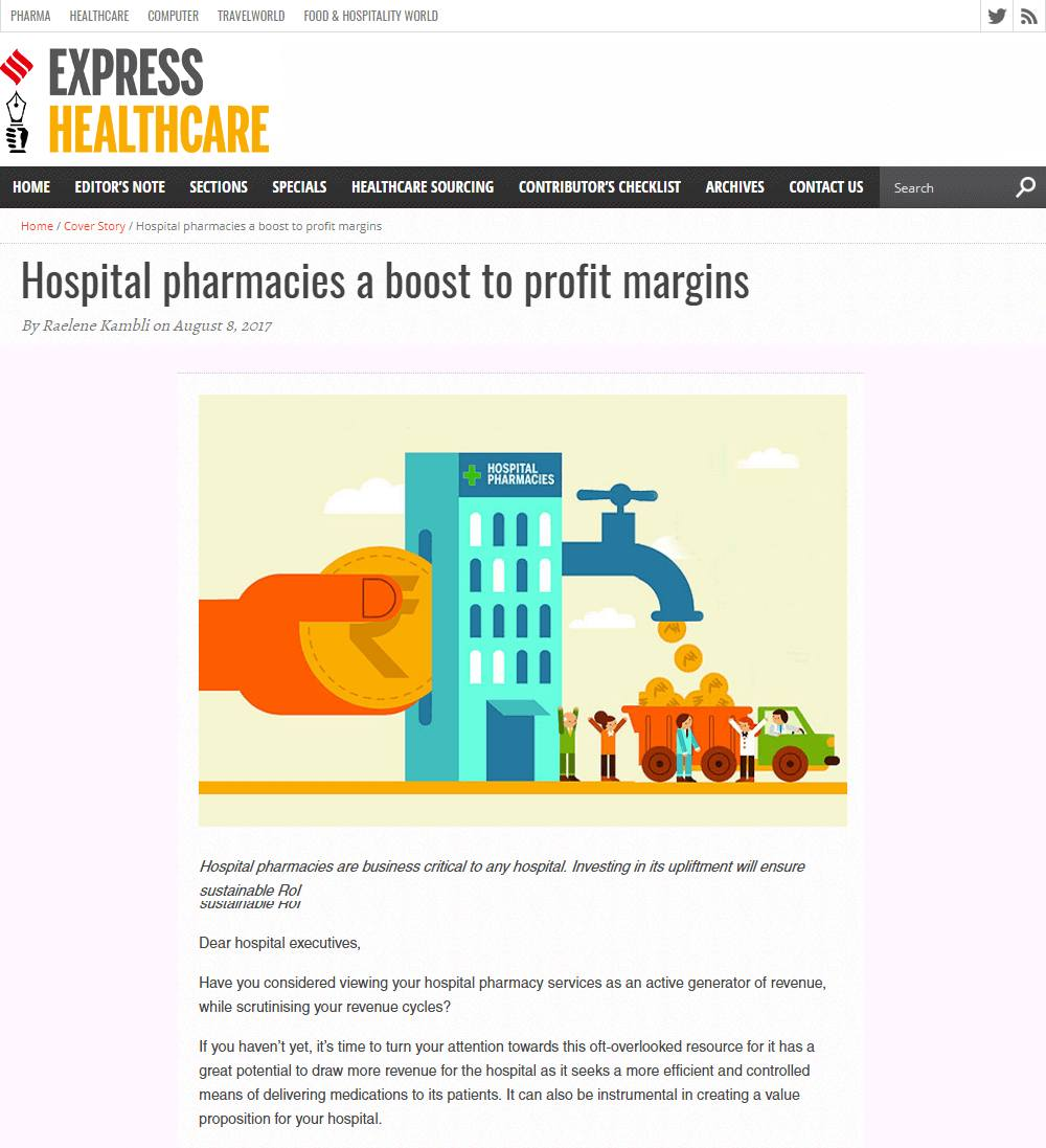Hospital pharmacies a boost to profit margins