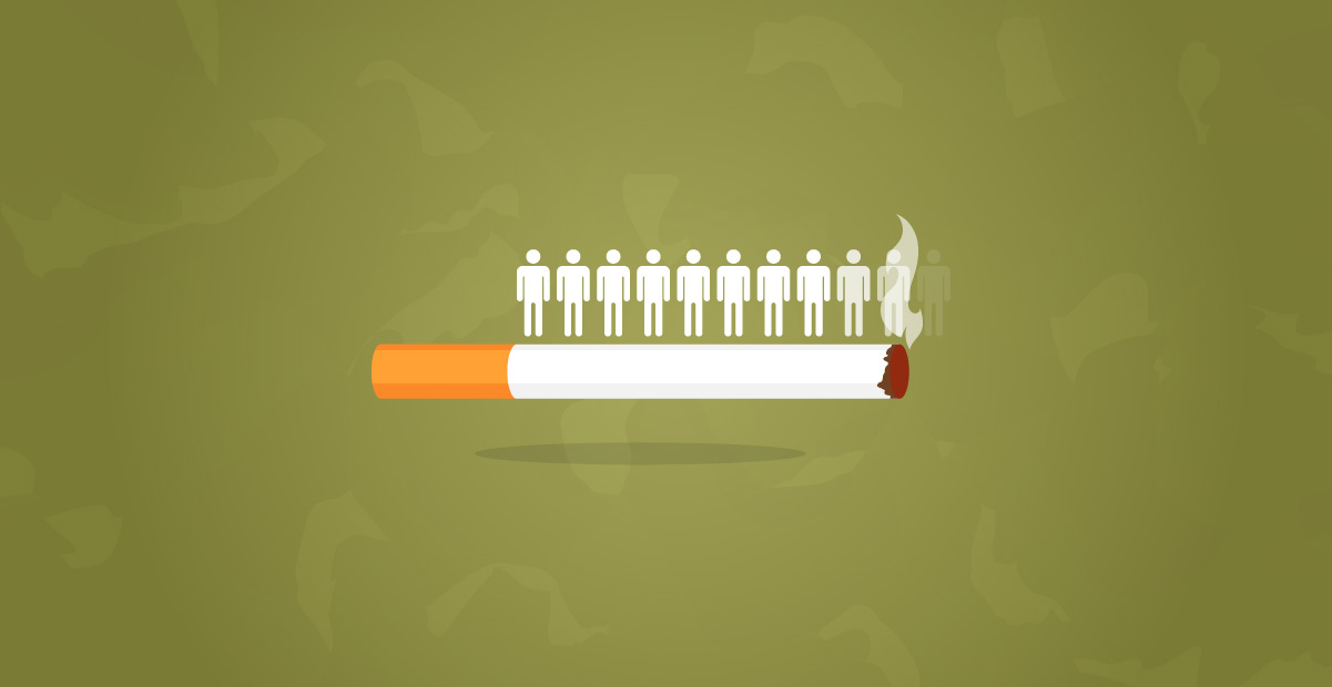 Negative health effects of tobacco use and smoking