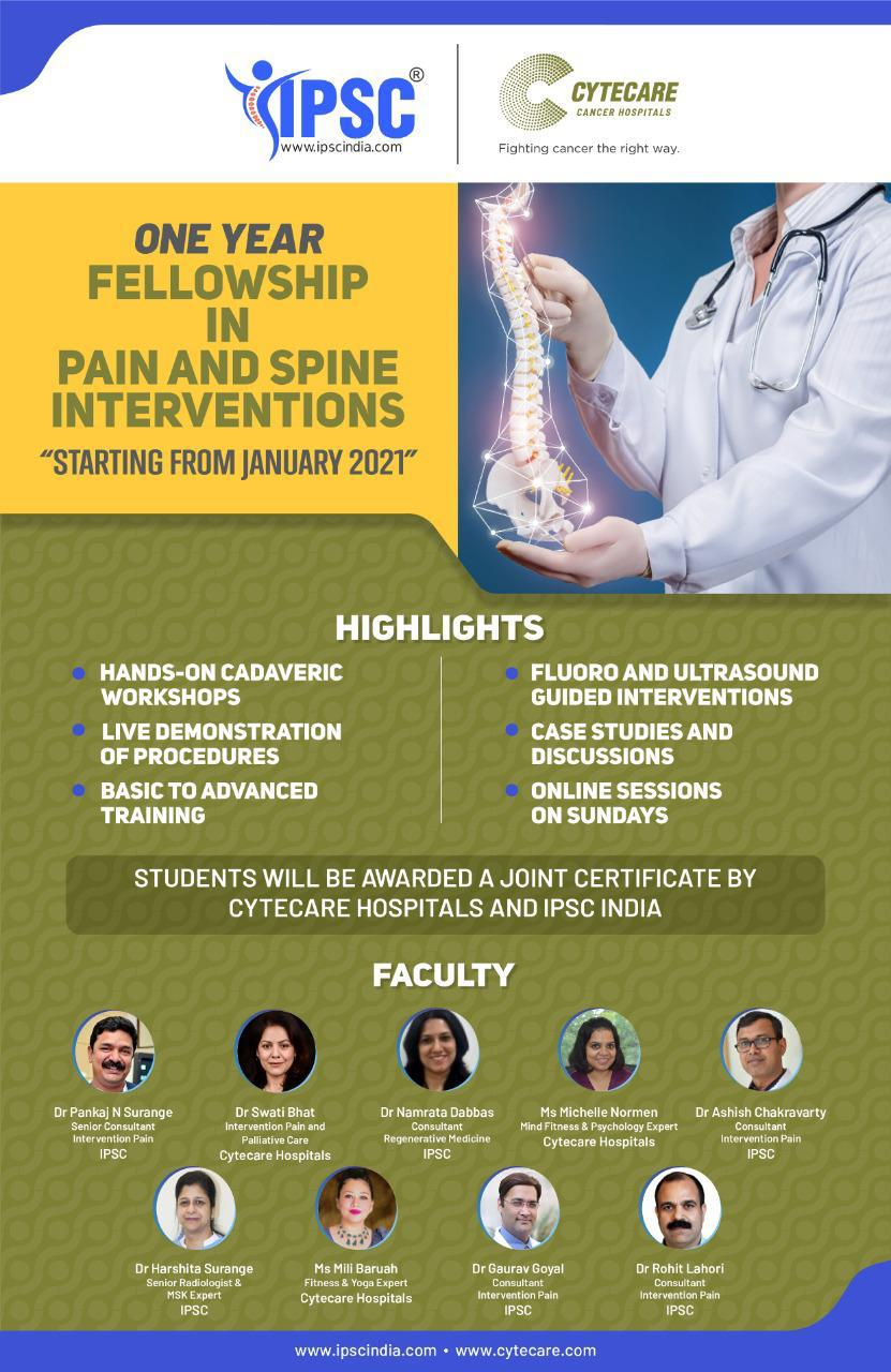 Fellowship program in Pain and Spine Interventions